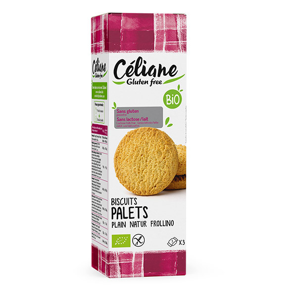 Céliane - Biscuits palets nature 150g