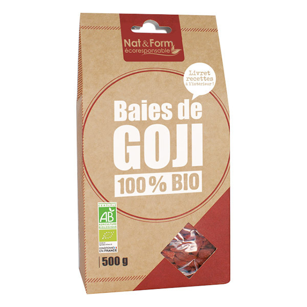 Nat & Form - Baies de Goji 100% Bio - 500g