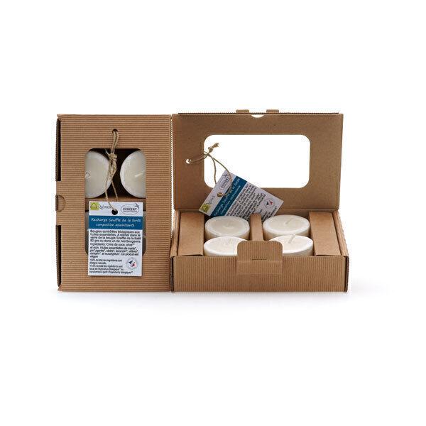 Quésack - Boîte de 4 bougies parfumées Composition Assainissante