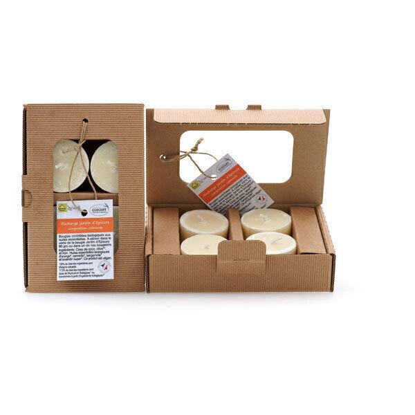 Quésack - Boîte de 4 bougies parfumées Composition Calmante