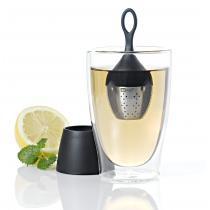 AdHoc - Boule à thé FLOATEA et support égouttoir noir
