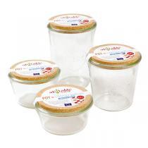 Ah! Table! - Pot de conservation en verre avec couvercle en liège 90cl