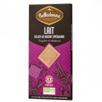 Belledonne - Tablette chocolat lait biscuits spéculoos 100g
