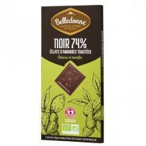 Belledonne - Tablette chocolat noir 57% éclats amandes 100g