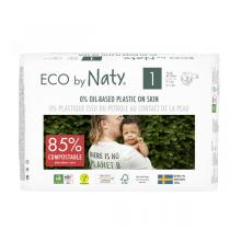 Eco by Naty - 25 Couches écologiques - T1, 2-5kg