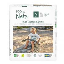 Eco by Naty - Lot 6x22 Couches écologiques - Taille 5, 12-18kg