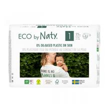 Eco by Naty - Lot 6x25 Couches écologiques - Taille 1, 2-5kg