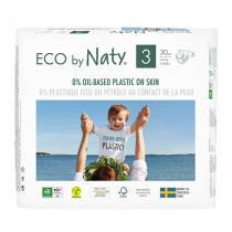 Eco by Naty - Lot 6x30 Couches écologiques - Taille 3, 4-9kg
