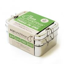 ECOlunchbox - Set de 3 lunch box rectangulaires 80cl