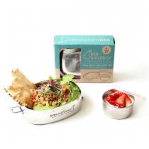 ECOlunchbox - Set lunch box ovale et boîte Snack 90cl