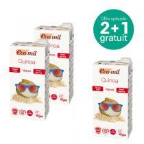 EcoMil - Offre Boisson au quinoa sans sucre bio 1L 2+1 Offert