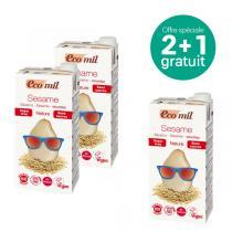 EcoMil - Offre Boisson au sésame sans sucres bio 1L 2+1 Offert