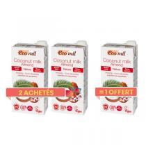 EcoMil - Offre Boisson Coco amande sans sucre Bio 1L BIO 2+1 offert