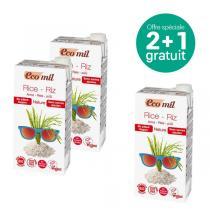 EcoMil - Offre Boisson riz nature sans sucre Bio 1L BIO 2+1 offert