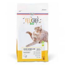Felichef - Lot de 2 x Croquettes bio chat adulte stérilisé 2kg