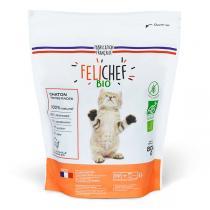 Felichef - Lot de 2 x Croquettes bio  sans céréales chaton 800g