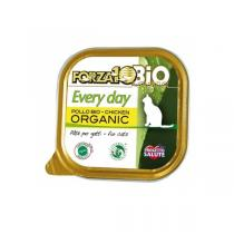 Forza 10 Bio - Lot de 6 x Pâtées pour chat bio barquette Poulet 100g