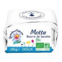 Grandeur Nature - Beurre de baratte doux 250g