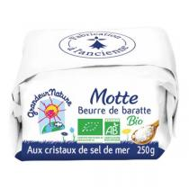 Grandeur Nature - Beurre de baratte cristaux de sel 250g