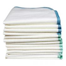 Imsevimse - Lot 12 Lingettes lavables coton bio Bordures Océan