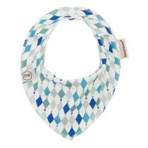 ImseVimse - Bavoir bandana diamant bleu