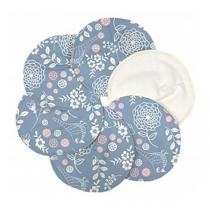 ImseVimse - Lot 6 Coussinets d'allaitement coton bio motif Jardin