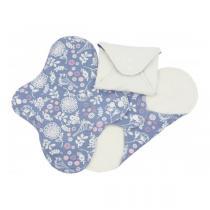 Imsevimse - Lot 3 Serviettes hygiéniques jour lavables motif jardin