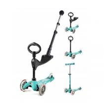 Micro - Porteur Trottinette Mini 3in1 Push Bar Deluxe Aqua 1 à 5 ans