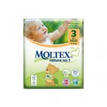 Moltex - 34 Couches Eco-Midi T3, 4-9 kg