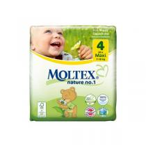Moltex - Lot 4 x 30 Couches Eco-Maxi T4, 7-18 kg