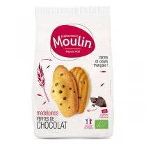 Moulin - Madeleines pépites de chocolat bio x 8 - 225 g