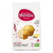 Moulin - Mini muffins citron pavot bio - 225 g