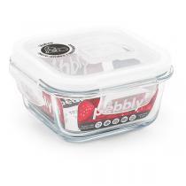 Pebbly - Boîte Bébé carrée Verre borosilicate 320 ml