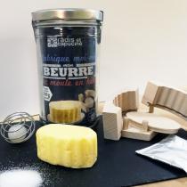 Radis et Capucine - Bocal DIY Je fabrique moi-même mon Beurre Bio 1L