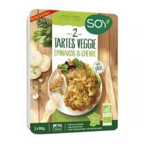 Soy - Tarte veggie chèvre épinard 2x90g