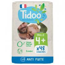 Tidoo - 23 Couches T4+ 9-20kg Hypoallergéniques Nature