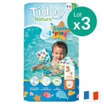 Tidoo - Lot 3 x 12 couches Swim & Play - T3 - S, 4-9 kg