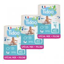 Tidoo - Pack 3x12 Culottes de Bain T4 8-15kg Hypoallergéniques