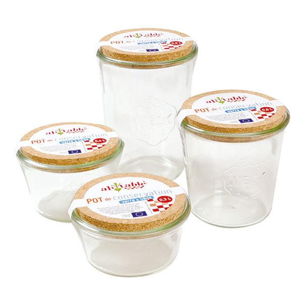 Ah! Table! - Pot de conservation en verre avec couvercle en liège 30cl