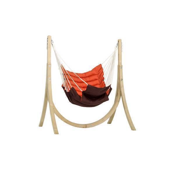 Set fauteuil suspendu avec support taurus terracotta amazonas acheter sur - Fauteuil suspendu avec support ...