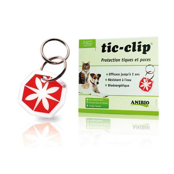 Anibio - Lot de 2 Médailles Tic-Clip protection tiques et puces