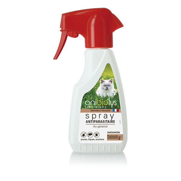 Anibiolys - Spray antiparasitaire chat et chaton 250ml