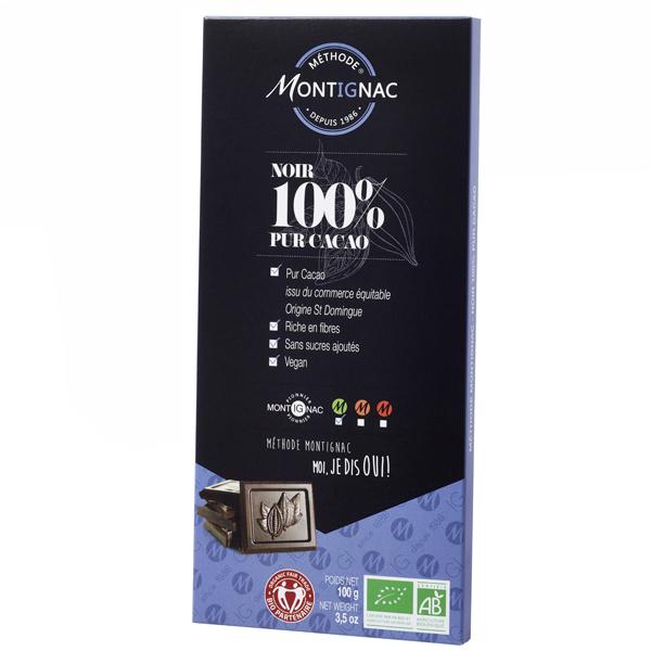 Montignac - Tablette 100% cacao Montignac 100g