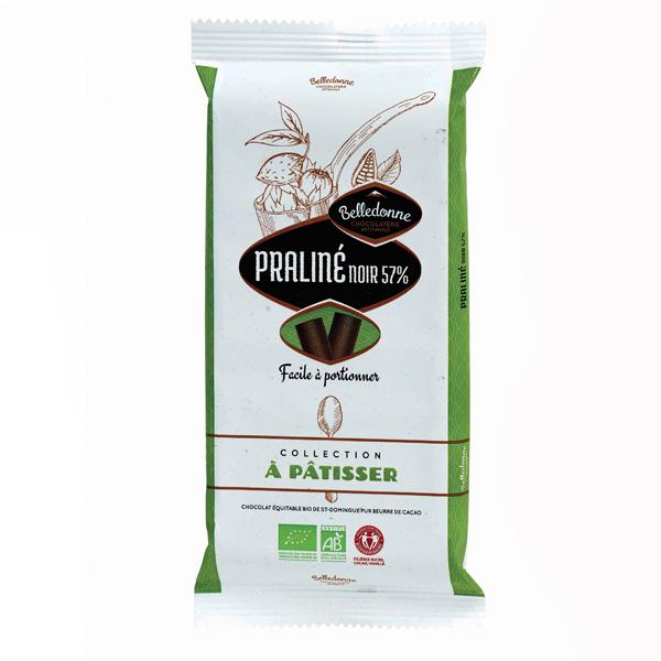 Belledonne - Tablette à pâtisser praliné noir 57% 175g