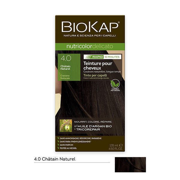 Biokap - Coloration Nutricolor Rapid 4.0 Châtain naturel 135ml