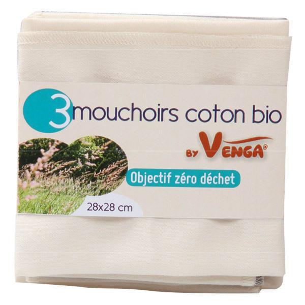 prix compétitif mignon pas cher Couleurs variées Lot de 3 mouchoirs en coton bio