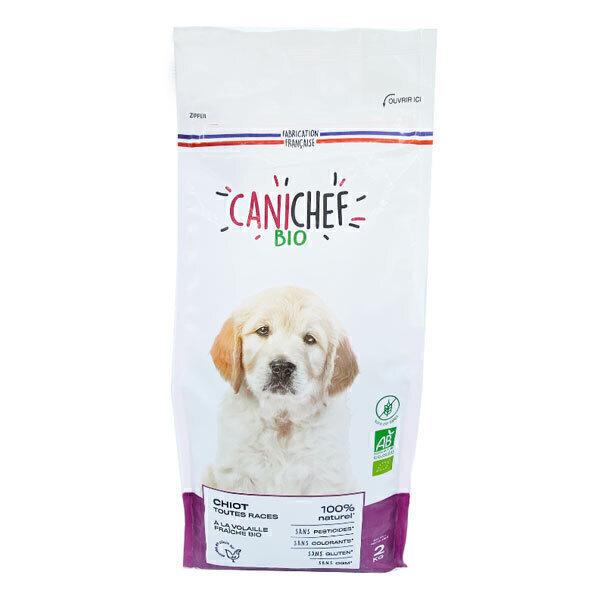 Canichef - Lot de 2 x Croquettes bio sans céréales chiot 2kg
