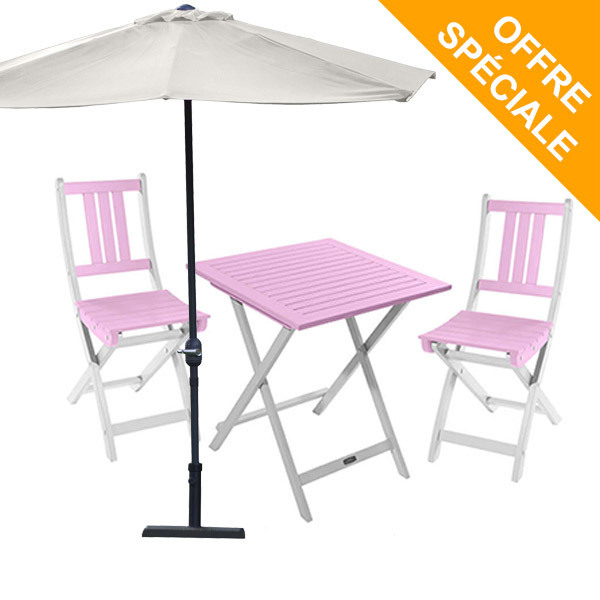 salon de jardin 2 pl burano orchid es demi parasol muscade city green acheter sur. Black Bedroom Furniture Sets. Home Design Ideas