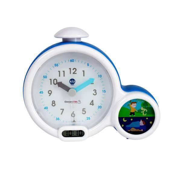 Claessens'Kid - Réveil et veilleuse Kid'Sleep Clock bleue