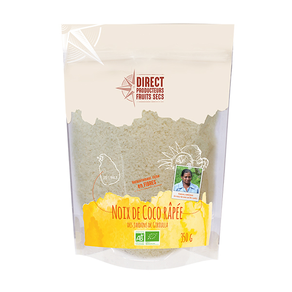 Pépite - Noix de coco râpée du Sri Lanka Bio 350gr